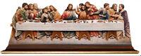Ultima Cena Estatua en Madera De Rosa The Last Supper Wood Relief On Mesa