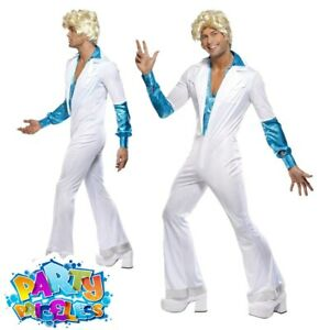 Adult Mens 1970s Disco Man Costume Abba Groovy Fancy Dress Party Outfit