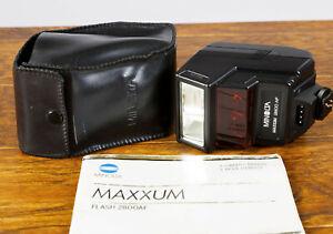 Mint Minolta 2800 AF Hot Shoe Flash for Maxxum 7000/5000/9000 Cameras Tested!