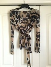SWEET PEA by Stacy Frati Anthropologie Sheer long sleeve Wrap Tie Size Large