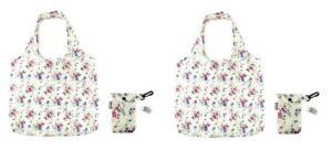 Two x  Summer Daisy Design Eco-Friendly Reusable Foldable Shopping Bag