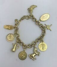 Gorgeous Heavy Solid 18ct Gold Charm Bracelet. 38.3 Grams. Great Condition