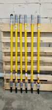 Lot of 6 RUBBERMAID Aluminum Yellow Quick Connect Straight Extension Pole 96 in.
