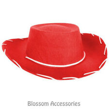 A828 Kids Child Red Cowboy Hat Toy Story Jessie Western Costume Party Accessory