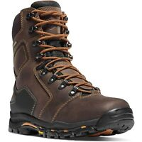 """Danner Men's 13866 Vicious 8"""" Brown Gore-Tex EH Leather Safety Work Shoes Boots"""