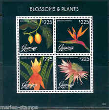 GUYANA BLOSSOMS & PLANTS  SHEET OF FOUR PART I  MINT NH
