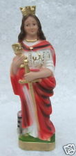 "Catholic Chalkware Statue ST. BARBARA 8""  Made in Italy - Never displayed!"