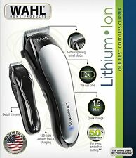 NEW Wahl 79600-2101 Lithium Ion Cordless Hair Clipper Barber Trimmer