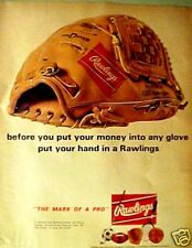 1969 Rawlings Baseball Gloves & Mitts-Fastback Model Sporting Goods Trade Ad