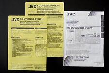 Jvc kd-dv6202/Dv6201 Dvd/Cd Receiver Original Manual/Owner `s Manual