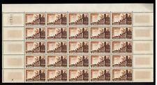 1955 - Demi-Feuille de 25 Timbres Neufs**/-Remparts de Brouage - Aunis - Yt.1042