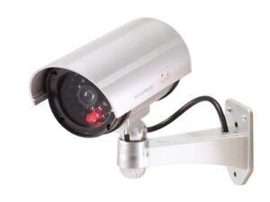 TELECAMERA FINTA DI SICUREZZA SORVEGLIANZA LED LAMPEGGIANTE CCTV IR VIDEO DVR
