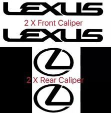 Lexus Brake Caliper High Temp Vinyl Decal Stickers (Any Color)