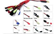 14 in 1 multi connector charging cable Traxxas Tamiya Deans Futaba + more