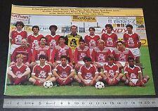 CLIPPING POSTER FOOTBALL 1985-1986 D2 US VALENCIENNES ANZIN USVA STADE NUNGESSER