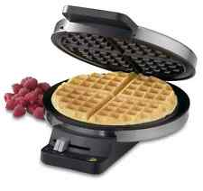 NEW Cuisinart Round WAFFLE MAKER Machine Iron Baker Breakfast Stainless Steel