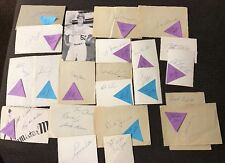 1964 Los Angeles Dodgers Cut Autograph Lot With Drysdale, Maury Wills And More