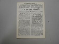 I. F. Stone's Weekly Vol. XIII, No. 22 from June 7, 1965! Rare indie paper!
