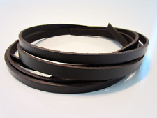 Leather Strapping, Dark Brown Leather Strip Blank, Cord