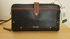The SAK Iris Large Smartphone Crossbody Wallet, Wristlet, Black