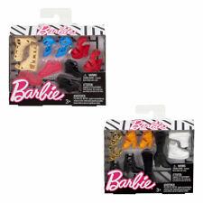 Barbie Fashion Clothing Sets Doll Accessory Shoes 5Pk