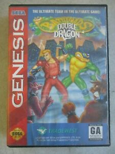 SEGA GENESIS BATTLETOADS DOUBLE DRAGON OFFICIAL GAME CASE AND MANUAL ONLY