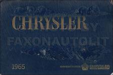 1965 Chrysler Color and Upholstery Dealer Album 300 300L Newport New Yorker