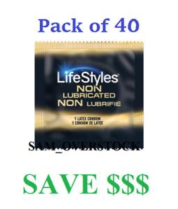 Lifestyles ULTRA SENSITIVE Non-Lubricated Condoms Latex Condom, Pack of 40!