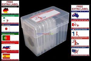 New Plastic Storage Box & 10PCs Coin Slab Holder (10-40mm) Display Capsules Case