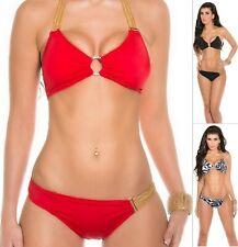 KouCla ITSY BITSY Women's Chain Top & Bottom Swimwear Swimsuit Bikini Set- S/M/L