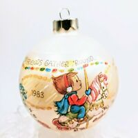 1983 Hallmark Ornament Xmas Happiness Is Found Wherever Good Friends Gather R...