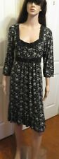 Ladies Expression black and white floral tied at the waist dress size 12