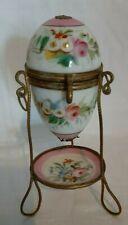 Antique c1800's Porcelain hand painted egg case - French Palais royal