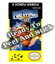 Power Punch II 2 Nes Cartridge Replacement Game Label Sticker Precut