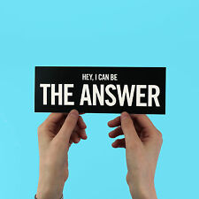 "Azealia Banks sticker ""Hey I can be the Answer"" 212,  bumper, laptop, slay-z"