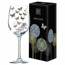 Butterfly Design Wine Glass By Bug Art Design Comes Boxed Ideal Gift