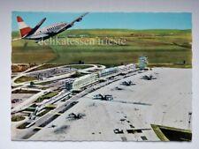 WIEN VIENNA FLUGHAFEN airplane aereo Airport Australian line AK old postcard