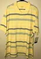 Sonoma Men's Polo Shirt Size XXL 100% Cotton Short Sleeve Striped NWTs