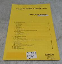 Fanuc AC Spindle Motor Series Operators Manual, B-53424E / 05, Used