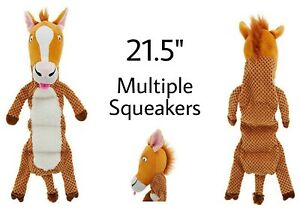 Top Paw® Squeaky Horse  LARGE Plush Dog Toy - Multiple Squeakers