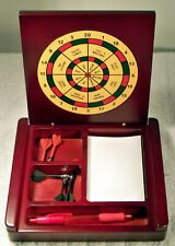 Executive Magnetic Dart Game - Rosewood - Decision Maker & Pencil/Pen Holder