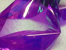 Nail art /holographic broken glass angel paper /foil Purple Holo 1 meter length
