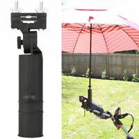 Universal Black Adjustable Umbrella Holder For Golf Club Trolley Cart Pushchair