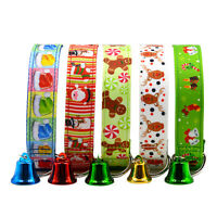 Christmas Pet Dog Puppy Collar Adjustable Xmas Design Collar with Small Bell#
