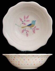 PORTMEIRION FOR JOHN LEWIS SECRET GARDEN DESSERT BOWL FLORAL BIRDS