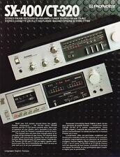 Pioneer Original SX400/CT320 Original Receiver/Cassette Brochure English/French