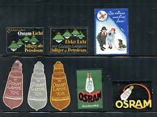 Germany Electricity Poster Stamp Osram Advertising Light Bulbs