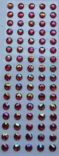 Dawn Bibby FANTASY AB GEMSTONES Sheet of 80 Aurora Borealis Crystals 12mm RED