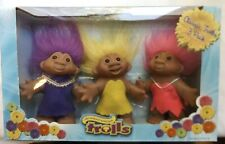 "Good Luck"" Trolls By Dam,3"" Vintage New in package - 3 Pack"