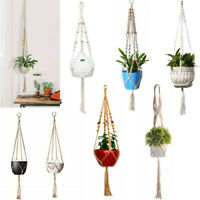Garden Plant Hanger Macrame Hanging Planter Basket Rope Flower Pot Holder De JF#
